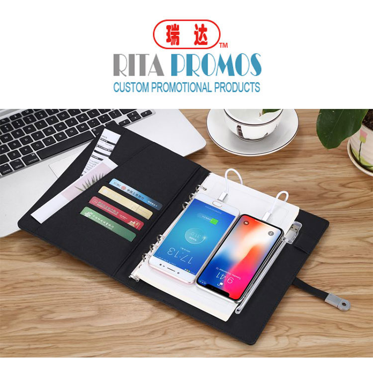 "<img src=""notebook powerbank.jpg"" alt=""with 2 ticket holders and 4 card holders"" />"
